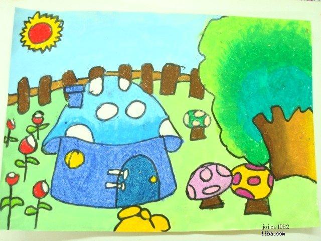 幼儿简笔画房子和蘑菇 图片合集